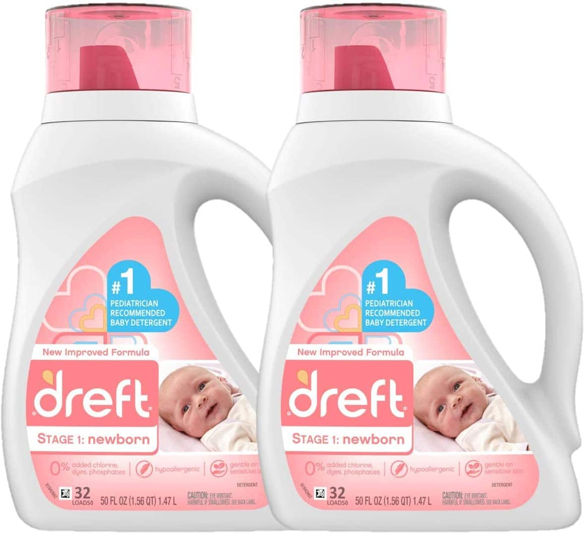Dreft Stage 1: 2 pack 50 Ounce(32 loads) Newborn Hypoallergenic Liquid Baby Laundry Detergent (HE), Natural for Baby, Newborn, or Infant $15.93