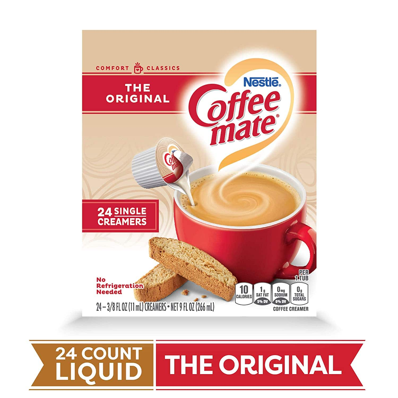 Coffee Mate The Original Liquid Coffee Creamer 24 ct Box (Pack of 4) Total 96 Count $5.79