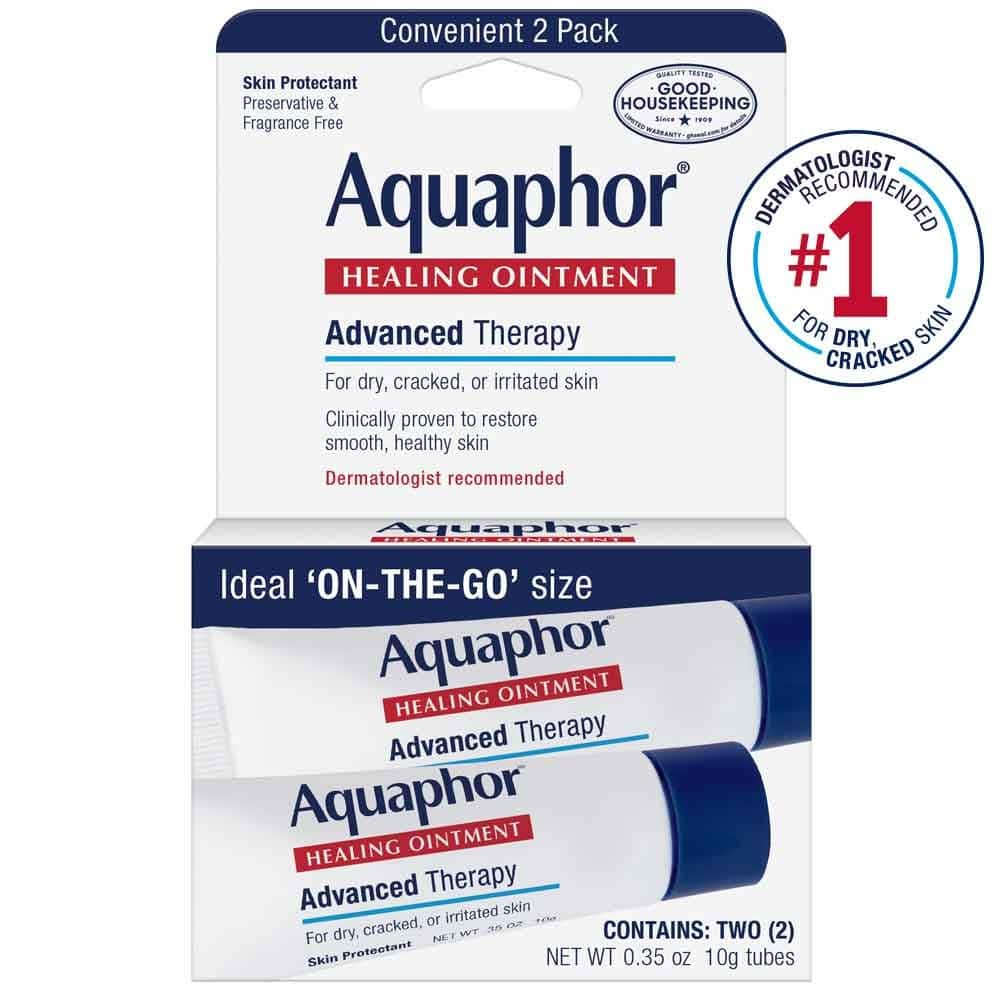 2 Quantity (Each has 2 Pack, 0.35 oz) of Aquaphor Healing Skin Ointment, Advanced Therapy $6.84