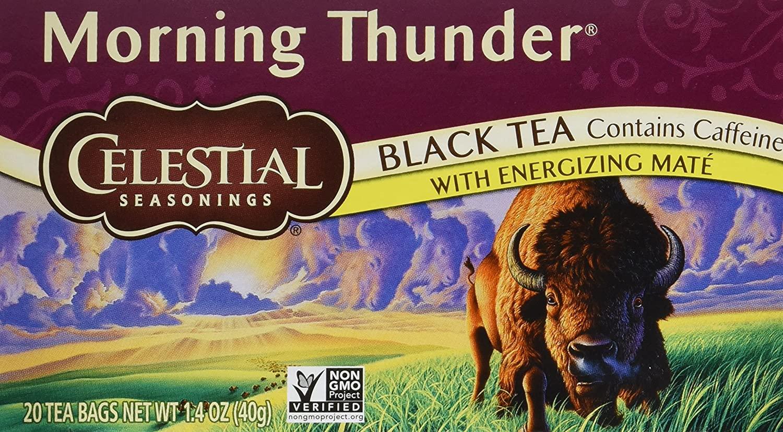 Celestial Seasonings Morning Thunder Tea Bags - 20 Packs $2.37