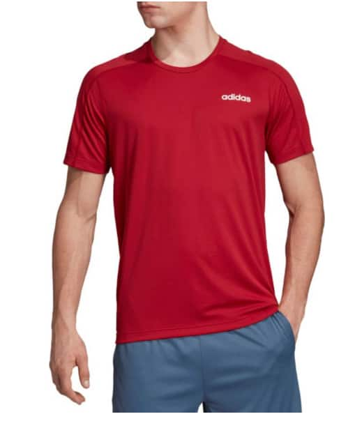adidas Men's Design 2 Move T-Shirt (White or Red) on sale for $10