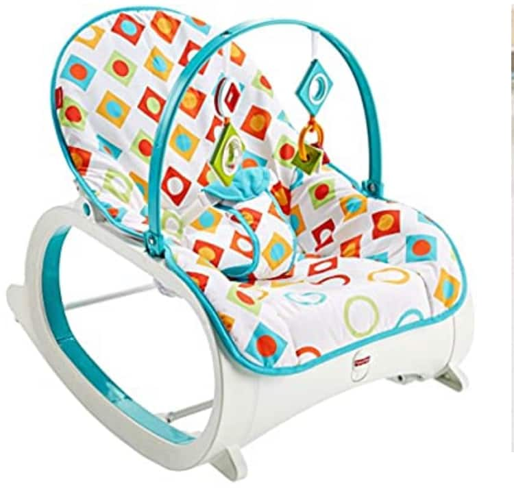 Fisher-Price Infant-to-Toddler Rocker - Geo Diamonds, Portable Baby Seat, Multi for $33.99
