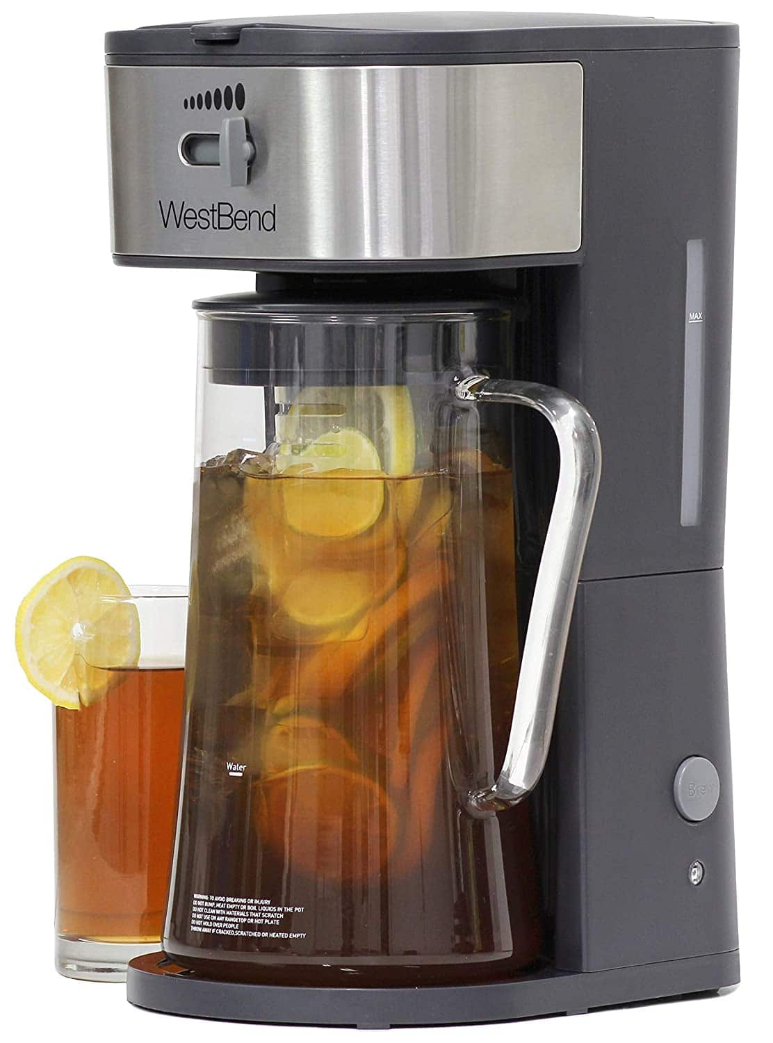 West Bend IT500 Iced Tea Maker or Iced Coffee Maker Includes an Infusion Tube to Customize the Flavor and Features Auto Shut-Off, 2.75 Quart, Black $29.99