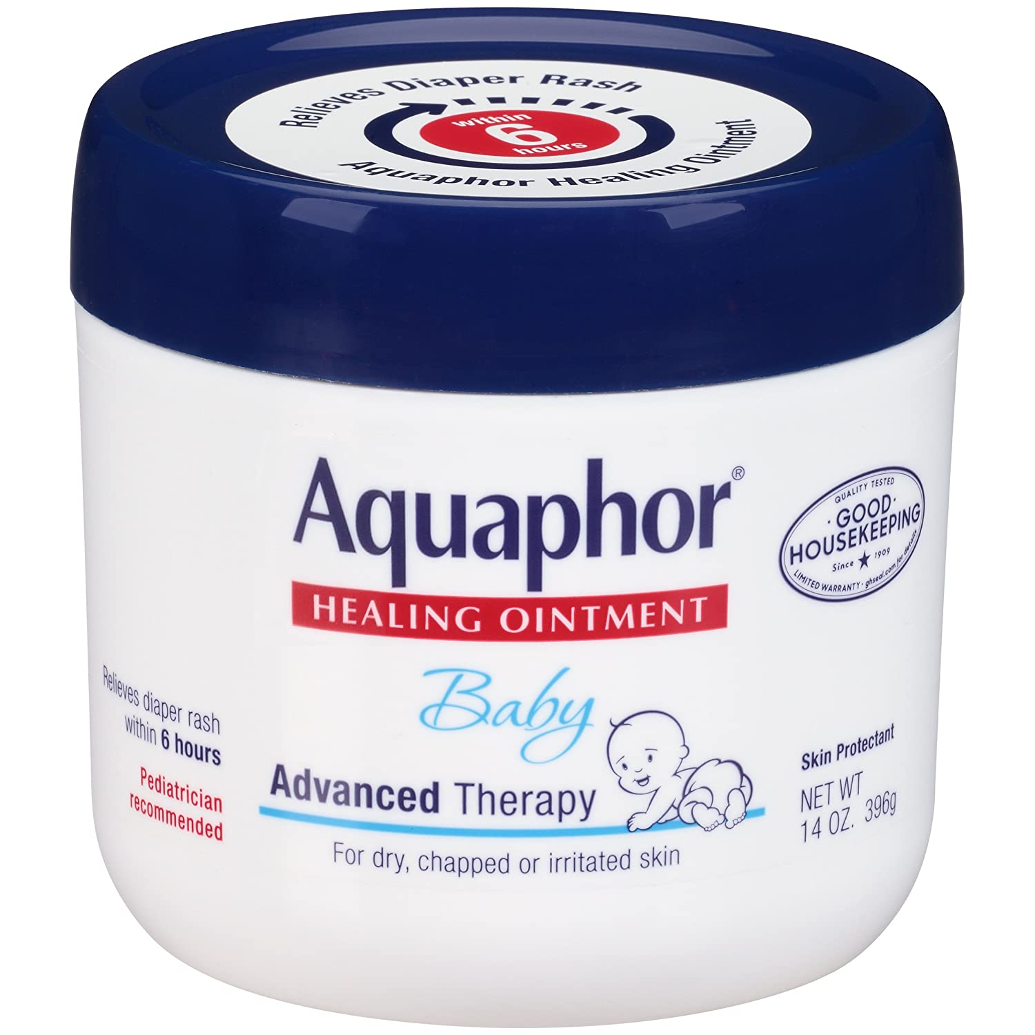 Aquaphor Baby Healing Ointment - Advance Therapy for Diaper Rash, Chapped Cheeks and Minor Scrapes - 14. Oz Jar $11.34