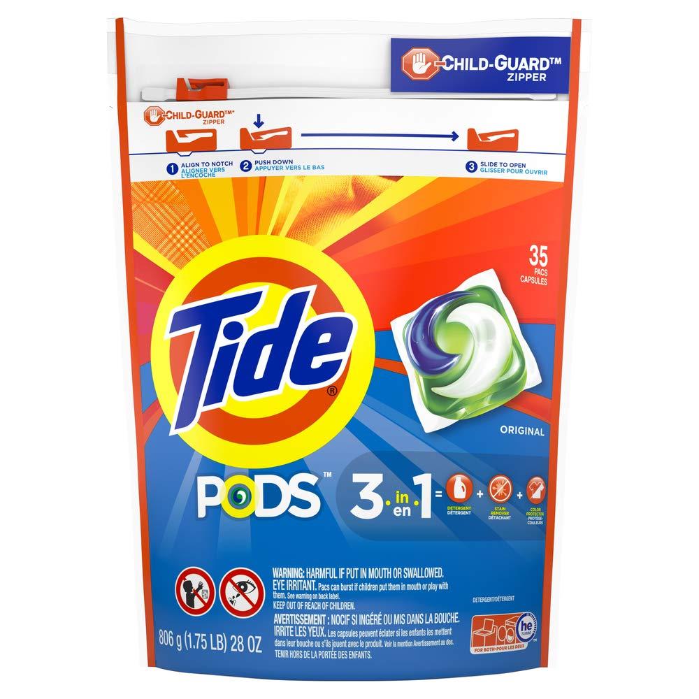 Tide Pods Laundry Detergent Pacs Original -  35 Count $8.49 S&S