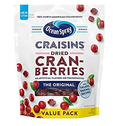 Ocean Spray Craisins Dried Cranberries, 24 Ounce $4.86