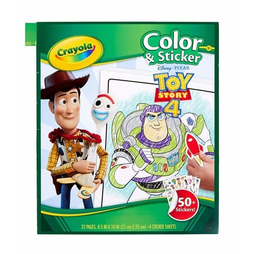 Crayola Toy Story 4 Coloring Pages & Stickers, Gift for Kids, Age 3, 4, 5, 6, 7, Multi [Toy Story 4] $4.99