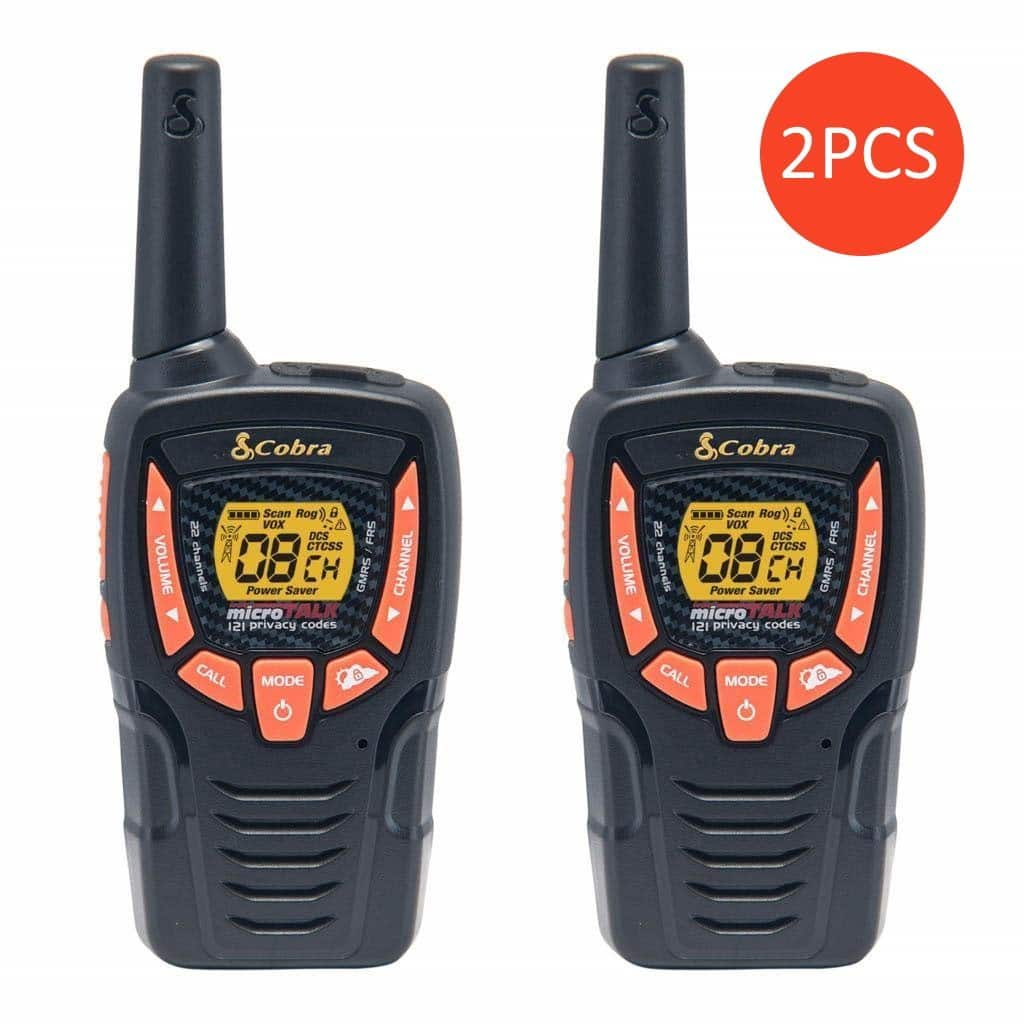 2 Pairs (BOGO) Cobra CXT385 Walkie Talkies 23-Mile Two-Way Radios (4 Radios) $17.99