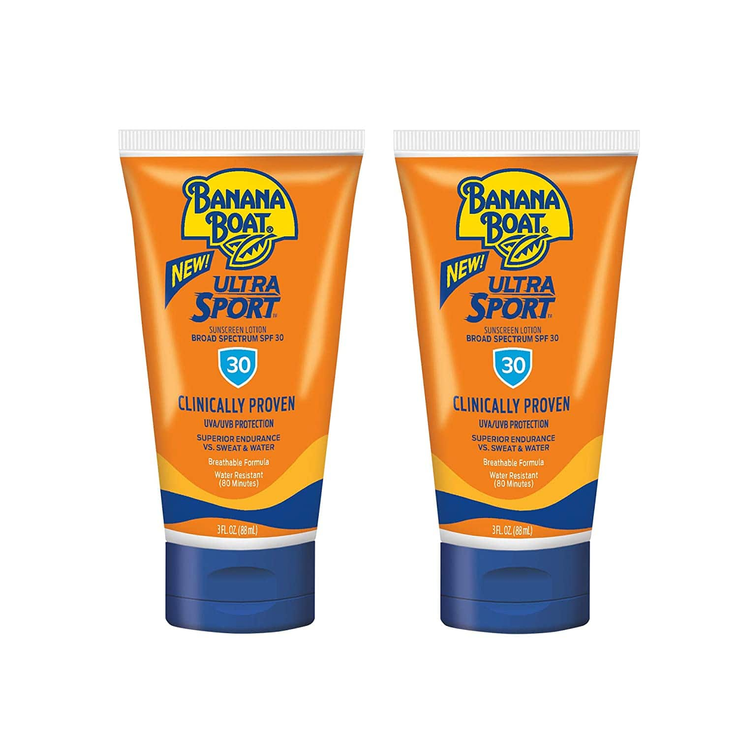 Amazon: Banana Boat Ultra Reef Friendly Sunscreen Lotion, Broad Spectrum SPF 30 Sport, 3 Ounce (Pack of 2), 6 Fl Oz - $4.18 w/15% S&S & Coupon, $5.32 w/5% S&S & Coupon