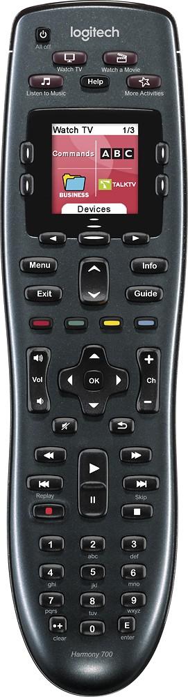 Logitech - Harmony 700 8-Device Universal Remote - Black $49.95