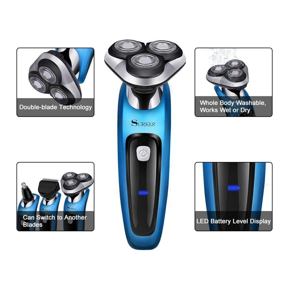 Electric Rotary Shaver 3 in 1 Razor Nose Trimmer Sideburns $19.71 + fs Amazon prime