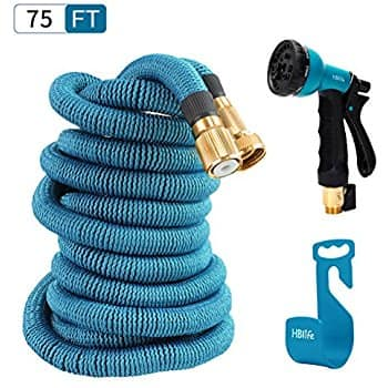 HBlife 75 ft Expandable Garden Water Hose with 8 Spray Pattern Nozzle $18.85 A/C + Free Amazon Prime shipping