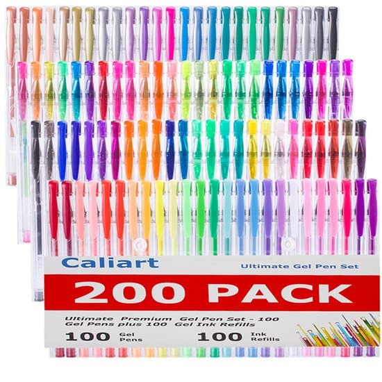 Caliart 200 Gel Pens (0.6-1.0 mm) Cyber Monday deal $16.79 a/c + Amazon Prime FS