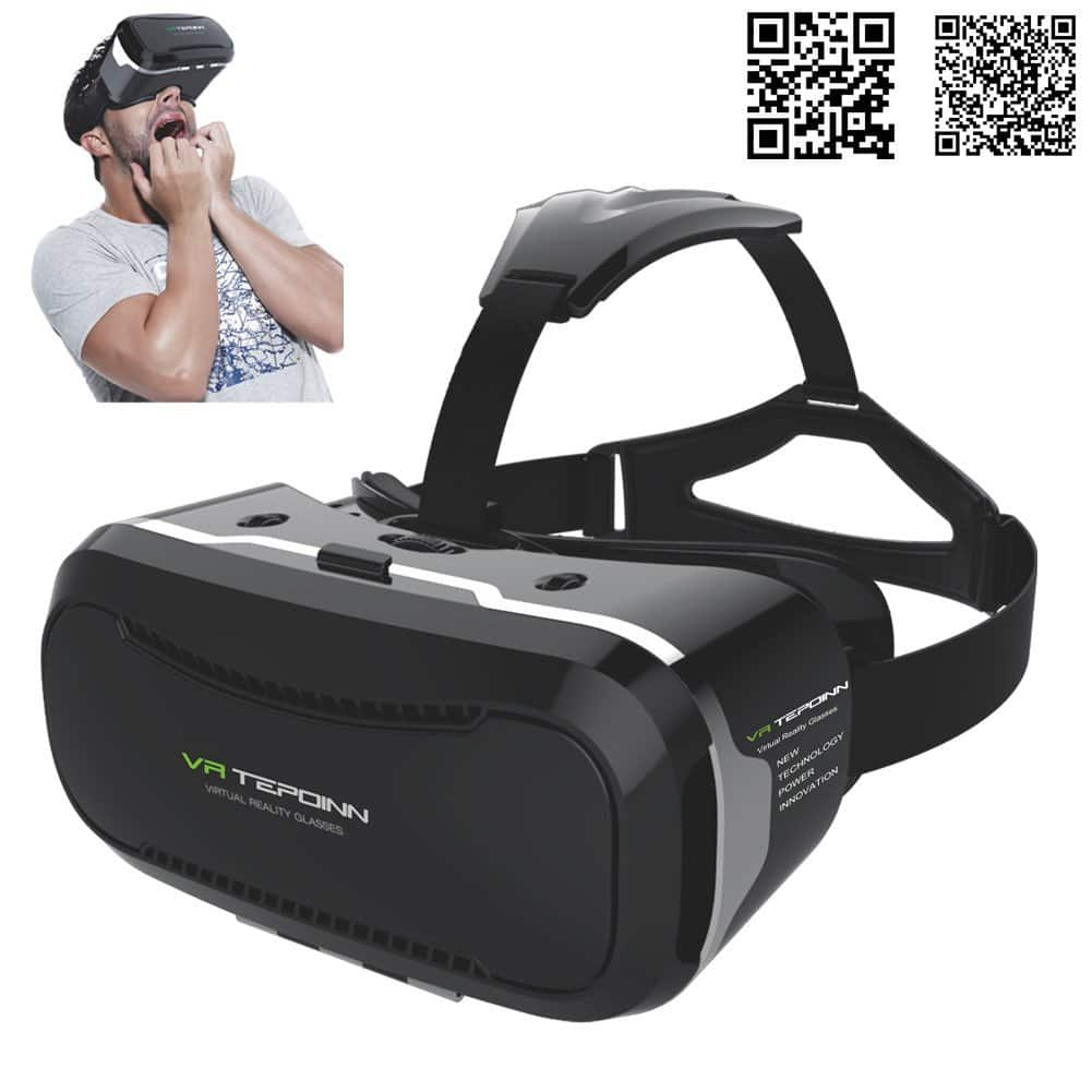 VR Glasses Headset w/ Adjustable Lens/Strap for 3.5 - 5.5-Inch Smartphones starting at $9.69 a/c + free Prime shipping