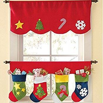 Christmas Stockings and Windows Valance $5.99 a/c + free Prime shipping