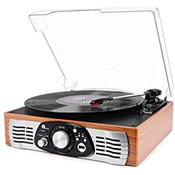 3-Speed Turntables Wood, Turquoise, Black from $32.49-$39.68 a/c + Free Prime shipping