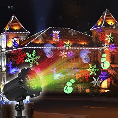 Christmas LED Projector Lights 4 Patterns $14.39 a/c + free Prime shipping