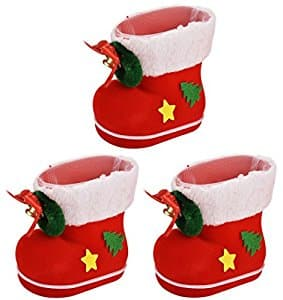 3 Piece Christmas Tiny Boots Decorations $2.99 a/c + free Prime shipping