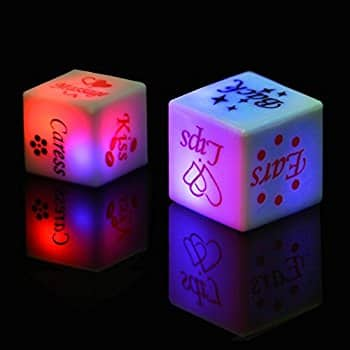 2 Sexy Light Up LED Dices $2.98 a/c + free Prime shipping