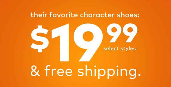 Stride rite $19.99 sale -  Character shoes