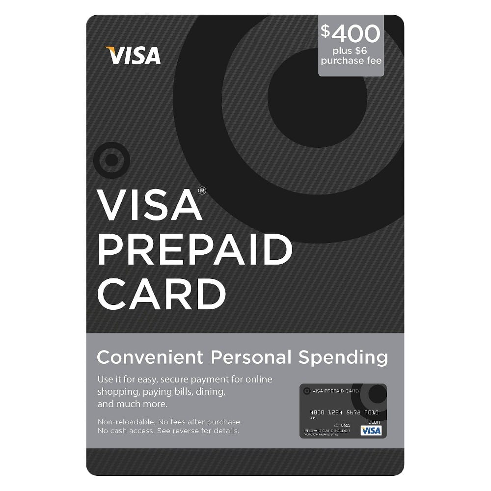400 visa card 401 targetcom no target gcs allowed - Prepaid Visa Gift Card