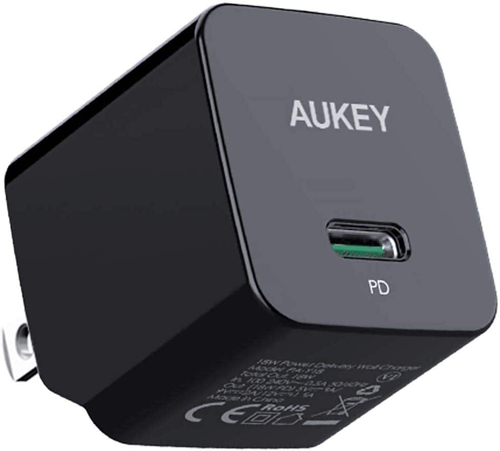 USB C Charger, AUKEY 18W PD Charger Fast Charger with Foldable Plug PRIME Only $9.98
