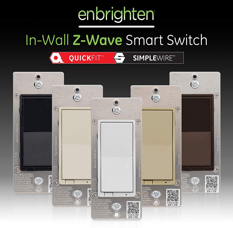 GE 46201 Enbrighten Z-Wave Plus Smart Light Switch, 3-Way 2nd Gen, $29.99 at Amazon
