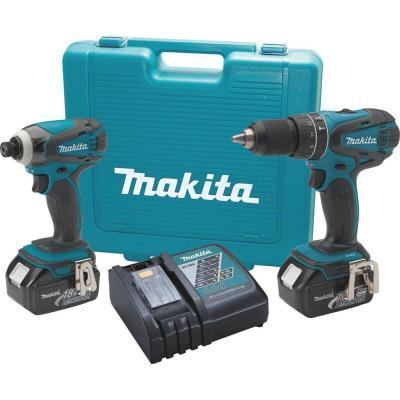 Makita 18-Volt Cordless Hammer Drill & Impact Driver Combo Kit $149 FS at Home Depot