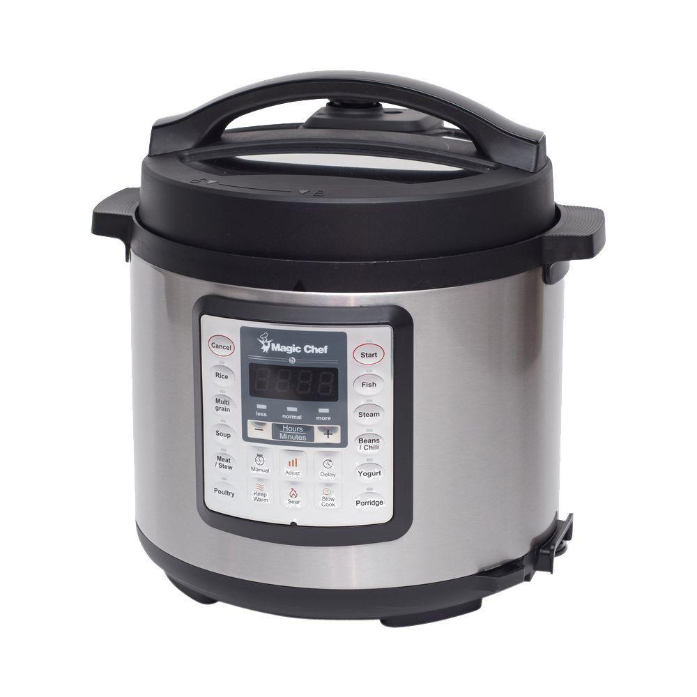 Magic chef 6 quart all in one 1000w multi cooker for Multi cooker