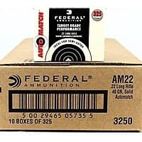 Federal Auto Match 22 long rifle ammo 325rds $  24.99 Free Shipping w/10 boxes
