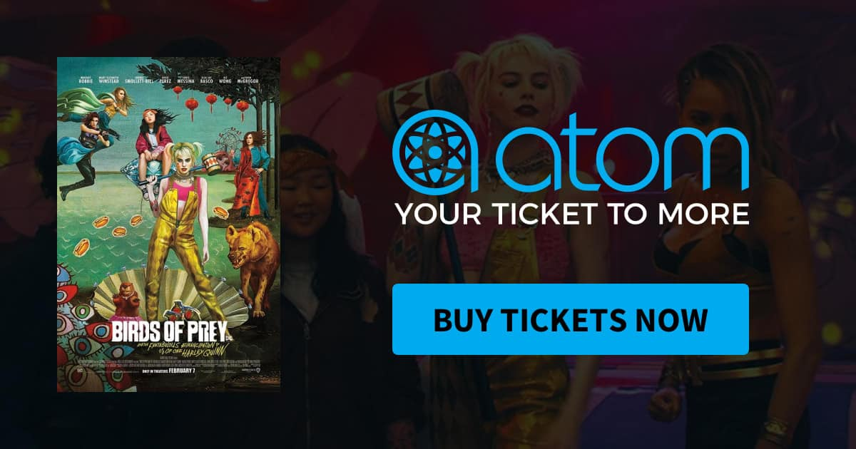 Atom Tickets: Birds of Prey—Five Movie Tickets for $35 (IMAX and Dolby Atmos included)