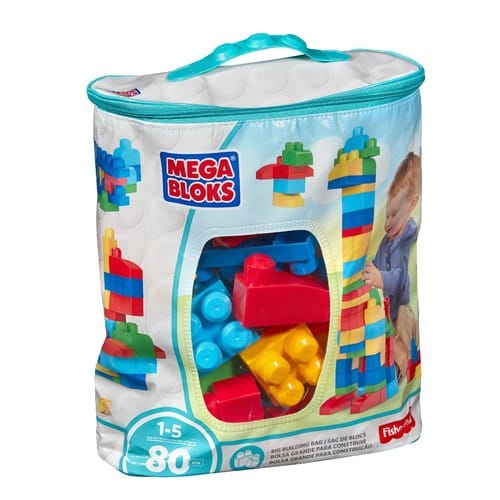 Mega Bloks 80-Piece Big Building Bag, Classic for $10 at Walmart $9.97