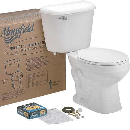 Mansfield Pro-Fit 1 White Round Front Two-Piece Complete Toilet $59 AR @ Menards