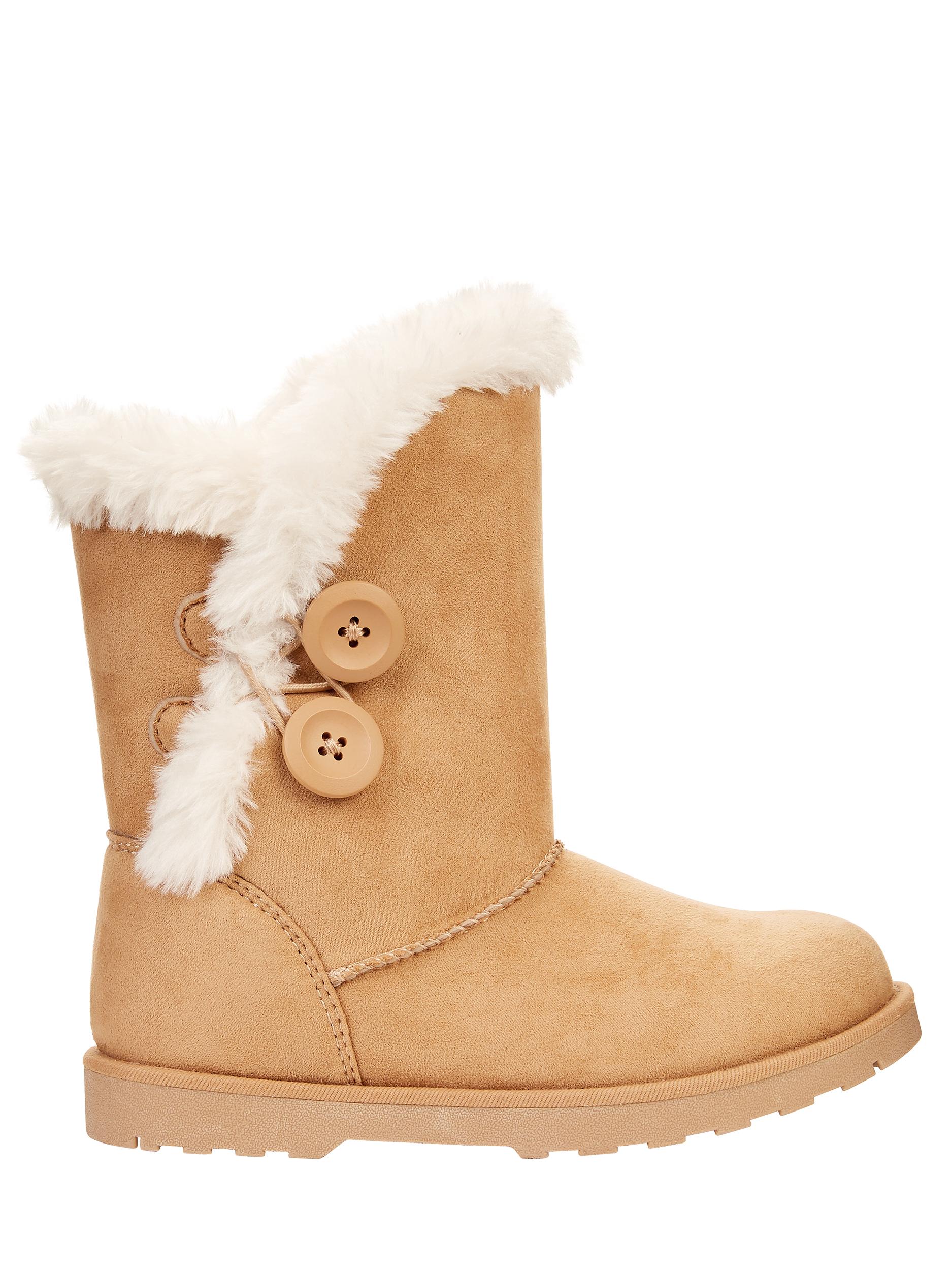 CALISTOGA - Calistoga Vegan Suede Faux Fur Mid Calf Boots (Little Girls/Big Girls)  $5 + FS with $35