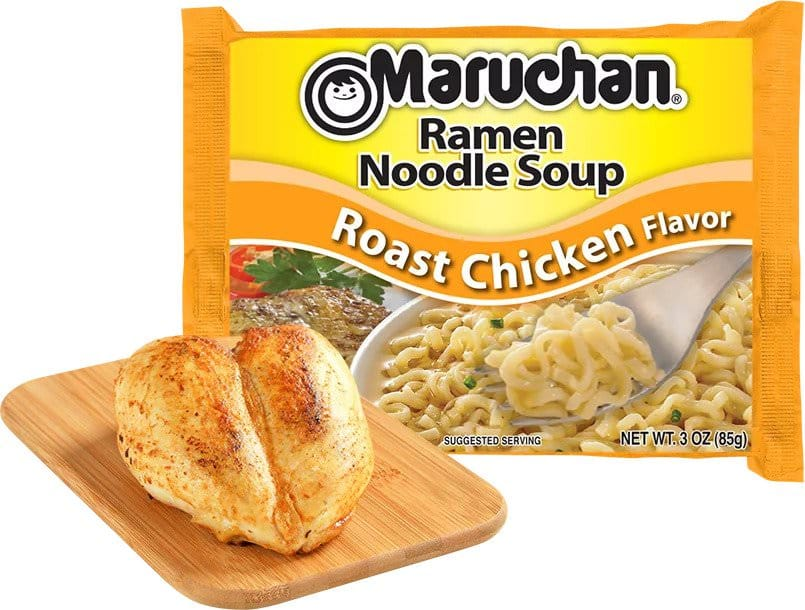 (24 Packs) Maruchan Roast Chicken Instant Ramen, 3 oz $5.76 + FS with $35