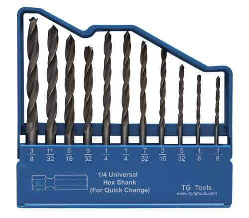 11 Piece Brad Point Drill Bit Set or 8 Piece Spade Drill Bit Set - $1.11 or Less @ Menards B&M
