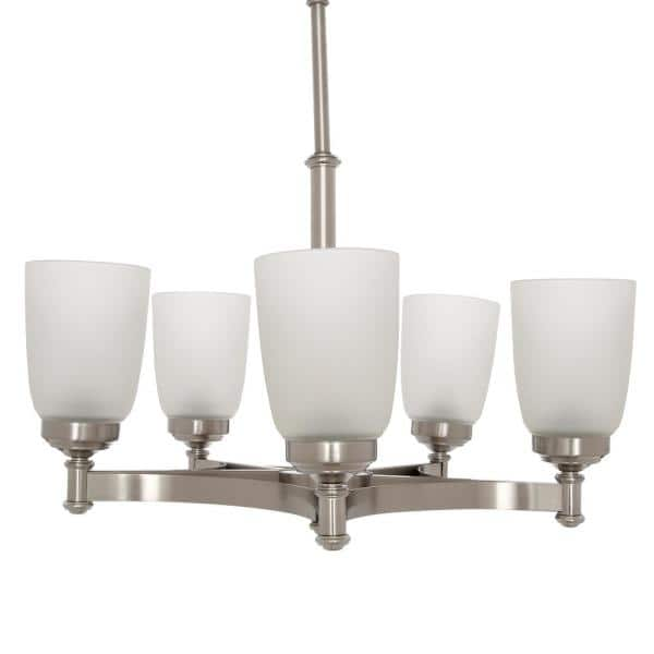 Hampton Bay  5-Light Chandeliers @ Home Deport $49 + Free Shipping or Pickup