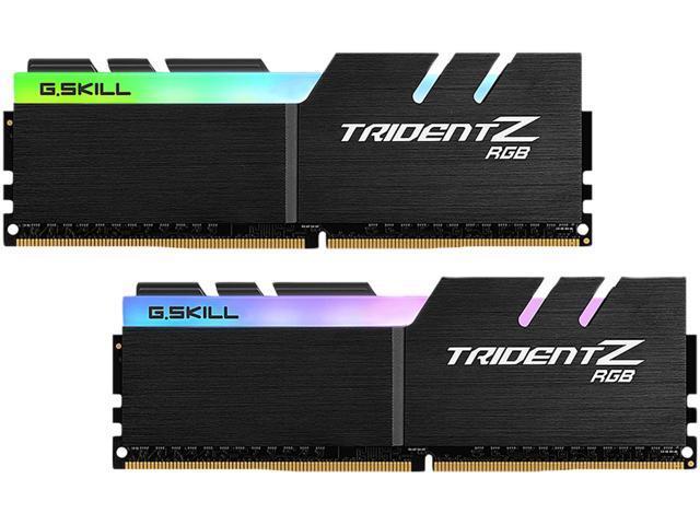 G.SKILL TridentZ RGB Series 16GB (2 x 8GB) 288-Pin DDR4 SDRAM DDR4 3600 (PC4 28800) Desktop Memory Model F4-3600C19D-16GTZRB $129.99
