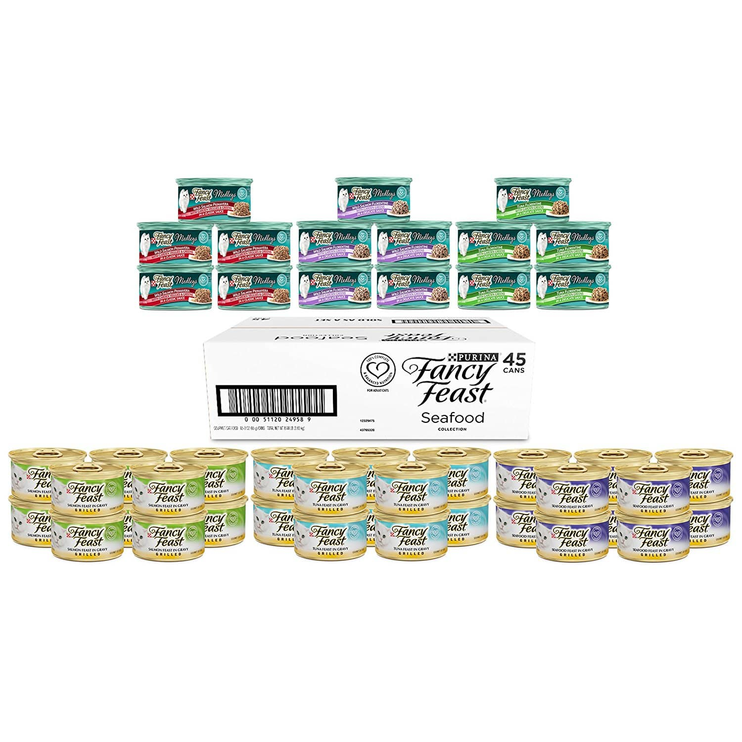 Purina Fancy Feast Seafood Wet Cat Food Variety Pack - (45) 3 oz. cans - $20.69  @amazon with Subscribe & Save (S&S)