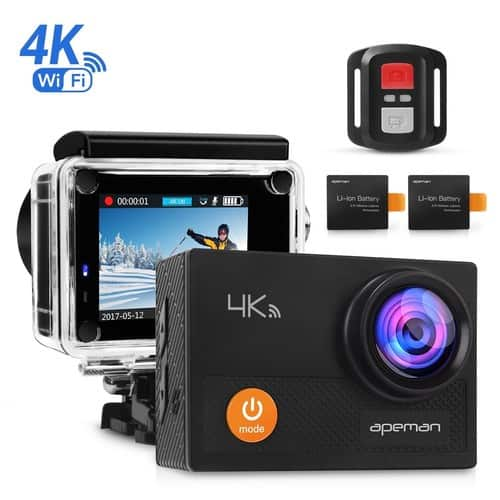 APEMAN Action Camera 4K Wi-Fi Waterproof Underwater Camera Ultra Full HD Sport Cam 30M $47.47 w/ FS