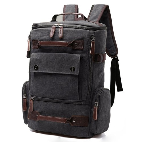 Aidonger Vintage Canvas Travel Backpack Laptop Backpack Weekend Backpack 6 different colors w/FS $27.97