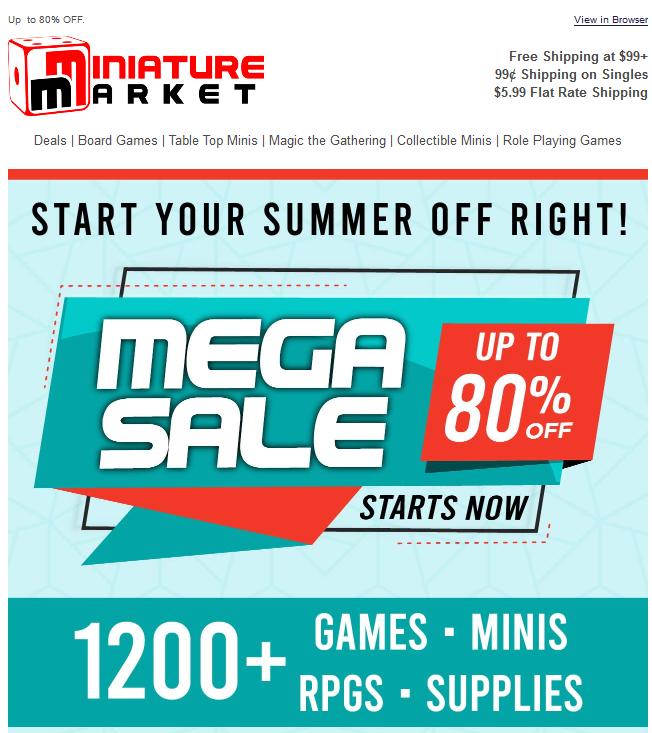 Miniature Market Mega Sale F/S at $99+ Sale Ends 6/10/19