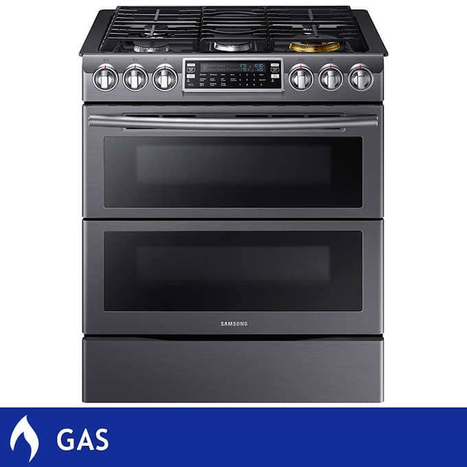 2500 Samsung 5 8cuft Gas Flex Duo Convection Slide In Range With Dual Door