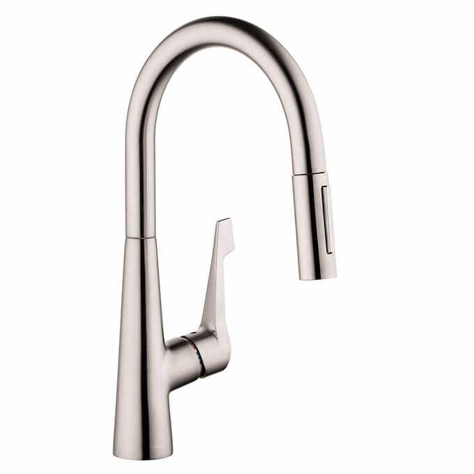 $150 Hansgrohe Talis M Pull Down Kitchen Faucet   Costco