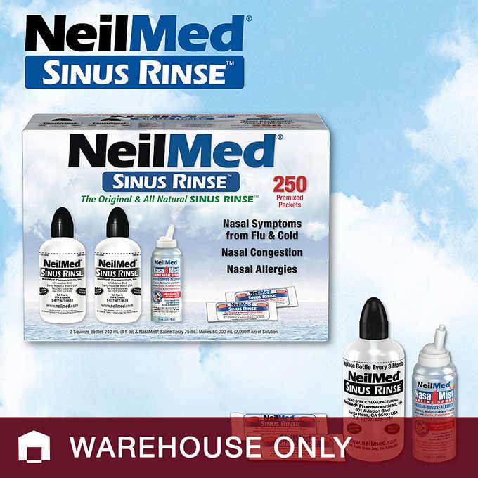 $14.99 NeilMed Sinus Rinse 250 Pack - Costco Warehouse Only