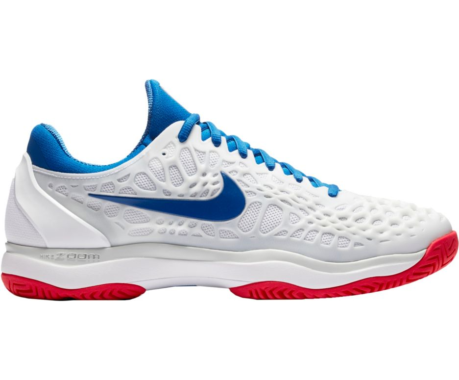 45f376bc3bb5  75 Nike Men s Zoom Cage 3 Tennis Shoes (White Red Blue) - Dick s Sporting  Goods
