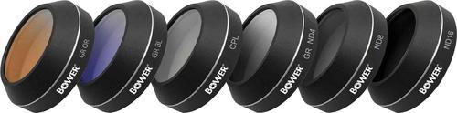 Bower Sky Capture Series Circular Polarizer / Neutral Density / Graduated Color Lens Filter for DJI Mavic Pro (6-Count) - Best Buy $16