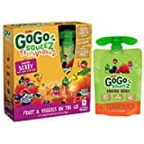 GoGo squeeZ Fruit & VeggieZ, Apple Pear Carrot, 3.2 Ounce, 4 C out For $3.50