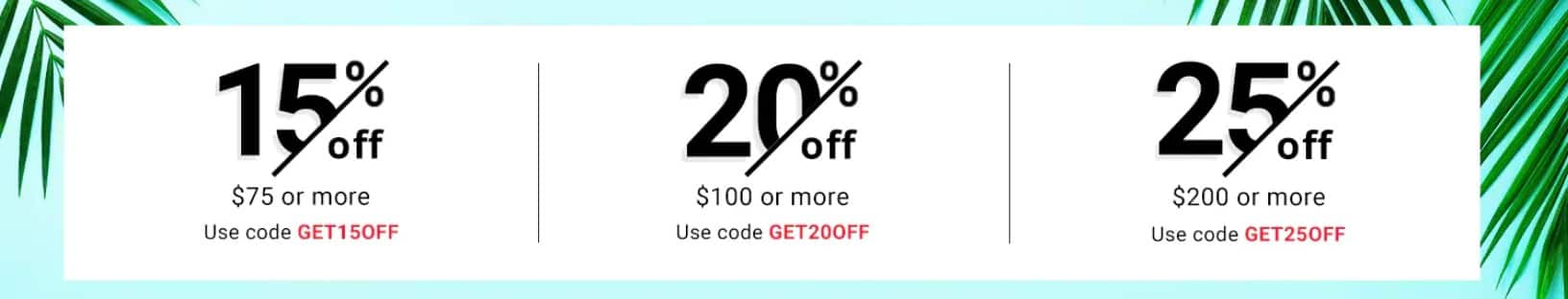 25% off Nike, Adidas, for $200 or more