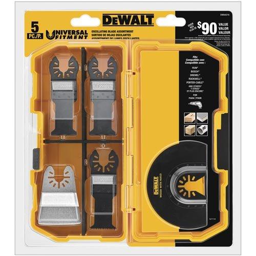 DEWALT DWA4216 5-Piece Oscillating Accessory Kit - $27.99 with PRIME